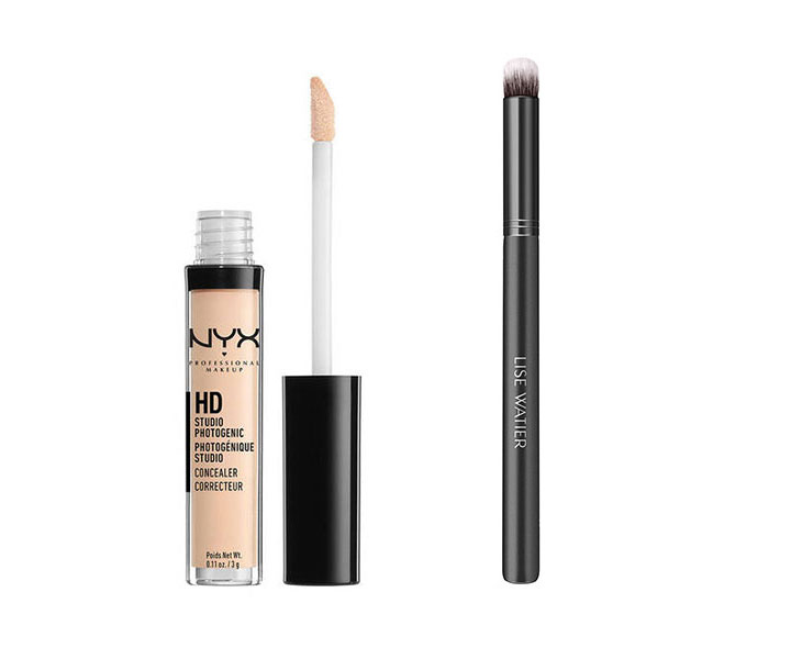 NYX HD Concealer Wand  Lise Watier Perfecting Concealer Brush