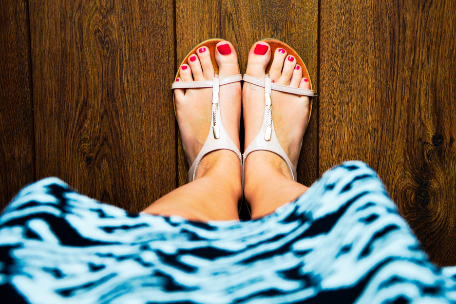 Healthy looking feet for summer
