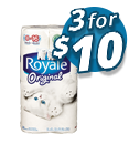Royale 8roul. - 3 for $10
