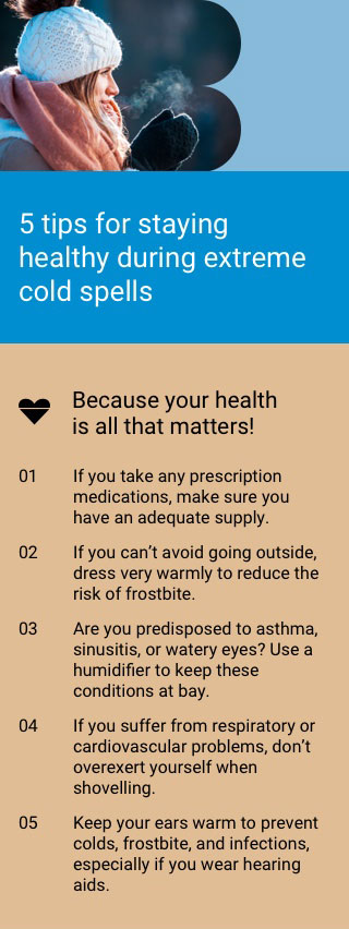 5 tips for staying healthy during extreme cold spells