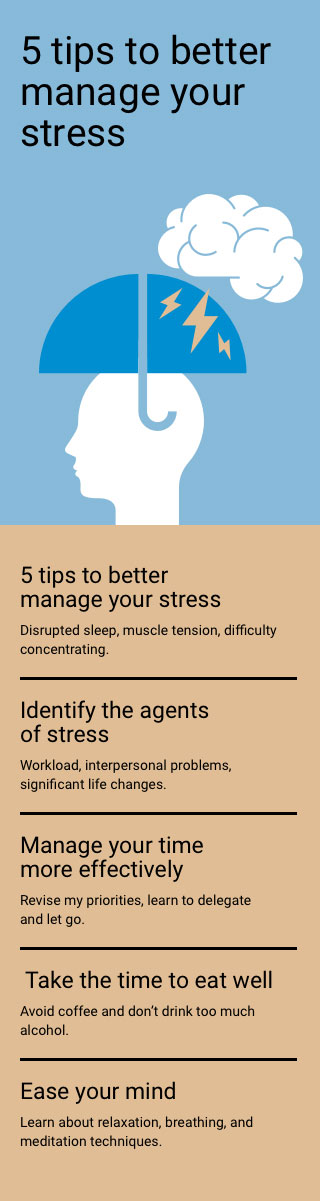 5 tips to better manage your stress