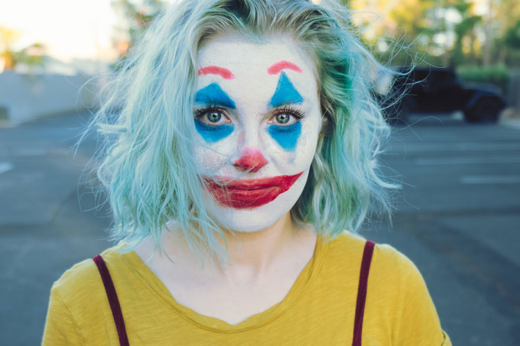 Maquillage de clown effrayant