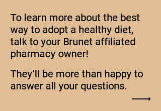 Consult your Brunet pharmacy owner